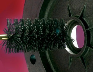 Tube Brush in Abrasive Nylon for the finishing of holes in cast iron