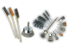 Small brushes for cleaning moulds and holes