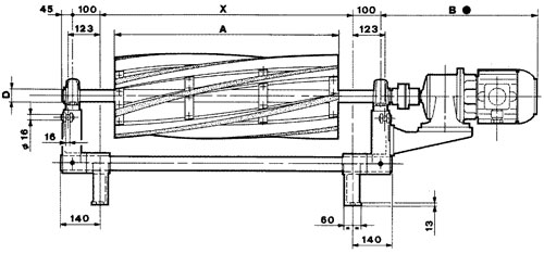Technical drawing of brushing Unit UST 1
