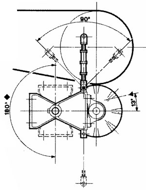 Technical drawing of brushing Unit UST 2