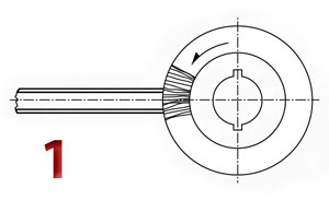 Technical drawing of deburring in axis