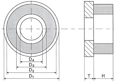Technical Drawing of Frontal Punched Brush