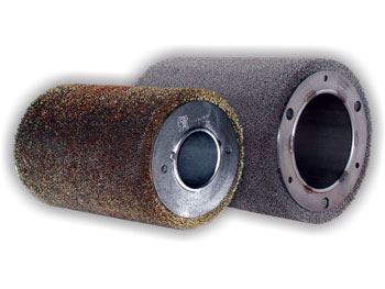 Roller brushes used in machineries for la buffing of precured tread