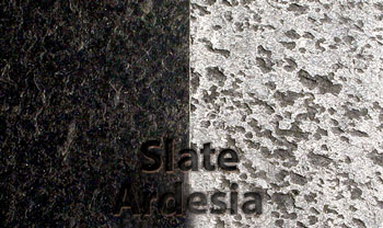 Slab of Slate brushed with abrasive nylon