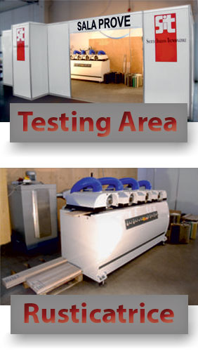 Machine for wood-aging wood and area test