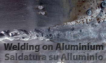 Cleaning of welding on aluminum with brush in abrasive nylon SIT Tecnospazzole