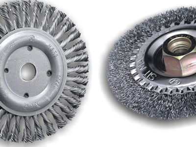 Wheel brushes for grinder