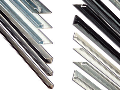 Tapes in aluminum, iron and stainless steel for the support of the Strip brushes