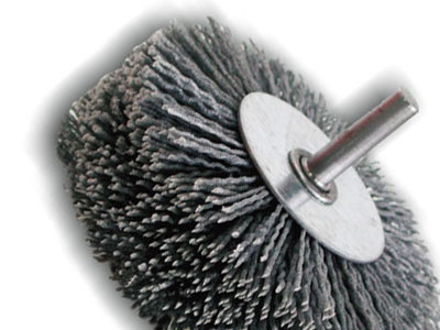 Wheel brushes for drill for wood